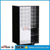 Quality Wholesale Competive Price acrylic Black Spinning Makeup Organizer wholesale