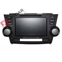 Quality 2G RAM Toyota Highlander Dvd Player , 8 Inch Double Din Head Unit Support TPMS wholesale