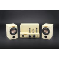 """China Stereo Vacuum Tube Bluetooth Amplifier with 3.5"""" Speaker unit Wooden Bookshelf Boxes on sale"""
