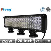 Quality Cree 20 252W Off Road Led Light Bars , Super Bright Quad Row Led Light Bar wholesale
