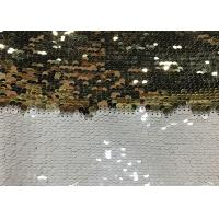 Cheap Double Sided Glitter Sequin Fabric Environmental Friendly Sublimation for sale