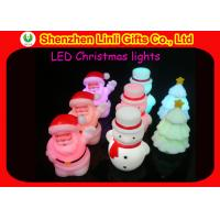 Quality Promotional Christmas novelty 7 color changing plastic LED light up flashing toy gifts wholesale