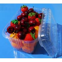 Quality Disposable plastic fruit vegetable food packaging tray 900 grams strawberry packaging tray PET plastic box for fruit wholesale