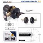 Quality Brass Cylinder Interior Door Locks , Residential Door Locks 5 Pin Tumbler Mechanism. wholesale