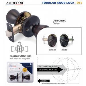China Brass Cylinder Interior Door Locks , Residential Door Locks 5 Pin Tumbler Mechanism. on sale