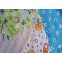 China Fire Resistant Printed Cotton Flannel Material Double Sided Twill Style on sale