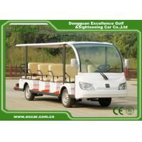 China EXCAR white 14 Seater 72V electric sightseeing bus electric car china tour bus for sale on sale