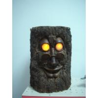 Quality GhosTree Epoxy Resin Crafts Garden Decorative Statue Stump with Glasses   wholesale