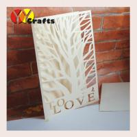 Quality First communion invitation card ivory tree wedding invitation card with love letters wholesale