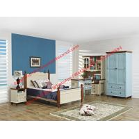 Quality Hotel style apartment interior furniture for single people bedroom set by double bed and read bookcase set with armoire wholesale