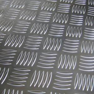 Cheap 6061-T6 Five Bar Aluminium Checker Plate For Anti Slip Floor Board High Strength for sale