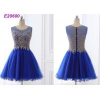 Quality Beautiful A Line Blue Cocktail Dresses , Special Occasion Formal Cocktail Dresses wholesale