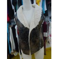 Quality Sleeveless Womens Faux Fur Winter Coats , Comfy Ladies Lightweight Jackets wholesale