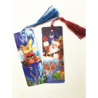 Quality Eco-friendly Lenticular 3D Bookmarks PET Material With Tassel Customized wholesale
