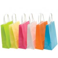 China Recyclable Colored Kraft Paper Bags , Custom Brown Paper Bags For Department Stores on sale