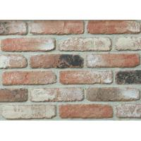 Indoor Faux Brick Wall Panels , Clay Exterior Brick Tiles For Walls 210x55x12mm