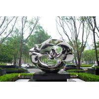 Quality Mirror Finish Outdoor Contemporary Metal Sculpture For Square Decoration wholesale