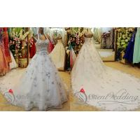 Quality Customized A Line Tulle Halter Cathedral Train Wedding Dresses Bridal Ball Gowns wholesale