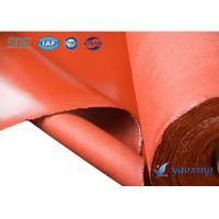 China Resistant 200 Degrees Celsius Silicone Rubber Coated Fabric With Waterproof on sale