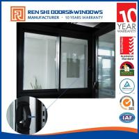 Quality AS2047 Double Glazing Aluminum Sliding Window With INTERPON Black Color wholesale
