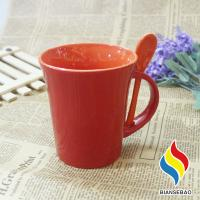Quality 11 oz Temperature Control Color Changing Cup Ceramic Coffee Mug with Spoon And Holder wholesale