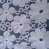 Quality Organza Lace Fabric with Fashionable Design, Available in Various Sizes and Colors wholesale