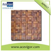 Quality Rustic solid wood wall mosaic tiles for inner house wall decoration wholesale