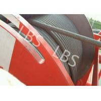 Quality Heavy Duty Lebus Groove Drum Tower Crane Winch 100m - 10000m Rope Capacity wholesale