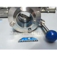 Quality Stainless Steel Multiposition Handle Clamped Butterfly Valve (ACE-DF-7G) wholesale