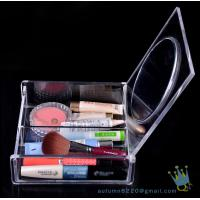 Quality acrylic clear cube makeup organizer drawer display wholesale