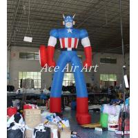Quality 4 m H Standing Inflatable Captain American For Advertising Made By oxford fabric wholesale
