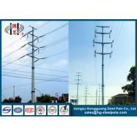 China Multi Circuit HDG Polygonal Steel Electrical Utility Poles Anti Corrosion on sale