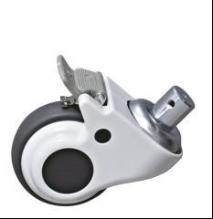 Quality Steel Bracket Cart Castor Wheels , Trolley Castors Or Casters Wheels With Brake wholesale