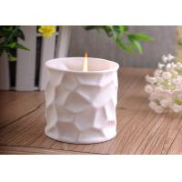 Quality White Tealight Ceramic Candle Holder Embossment 290ml Large Capacity wholesale