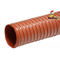 Quality Iron Oxide Red Silicone Coated Fiberglass Fabric High Temperature Flexible Duct wholesale