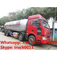 FAW brand 8*4 LHD lpg gas delivery truck for sale, hot sale best price 15tons bulk lpg gas propane storage tank truck