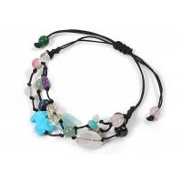 Quality Lead Free Handmade Beaded Bracelets Different Color Stone Custom Rope Bracelets wholesale