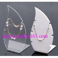 Quality High Polished Acrylic Necklace Display Stand / Acrylic Necklace Display Rack wholesale