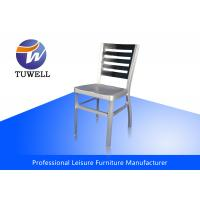 Quality Cafe / Restaurant Outdoor Aluminum Navy Chair With Ladder Back wholesale