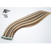 Cheap Long Silky Straight Tape In Indian Human Hair Extensions Zebra Stripes Type for sale
