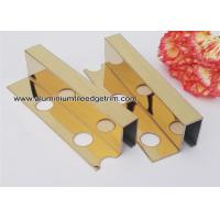 Quality Box Section Stainless Steel Tile Trim , Square Edge Interior Decorative Profile For Tile Edge wholesale