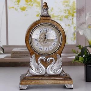 China Home Decorative Table Clock Black  Desktop Clock on sale