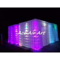 Cheap portable wedding party used tent inflatable photo booth enclosure with led for for sale