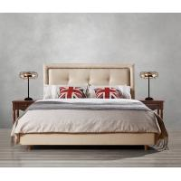 Quality Fabric Upholster padad Headboard Queen Bed Leisure Bedroom Furniture in American design Apartment Bedroom interior fit wholesale