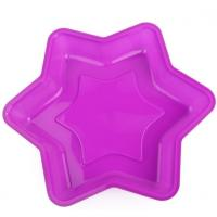 China Food Grade Silicone Baking Tray , Silicone Bakeware Molds Hexagram Custom Design on sale