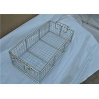 China Rugged Stainless Steel Wire Mesh Basket With Moved Handle For Fruit on sale