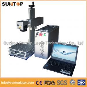 Quality 20W portable fiber laser marking machine for plastic PVC data matrix and barcode wholesale