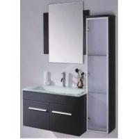 China Black Wall Mounted MDF Door Main Cabinet with Side Cabinet GBM027 on sale