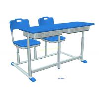 China Fixed Distance Dual Double Seat Classroom Study Table And Chair For Middle School on sale