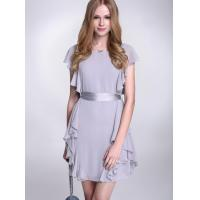 Quality High Waist Flattering Chiffon Cocktail Dresses With Ribbon For Girls wholesale